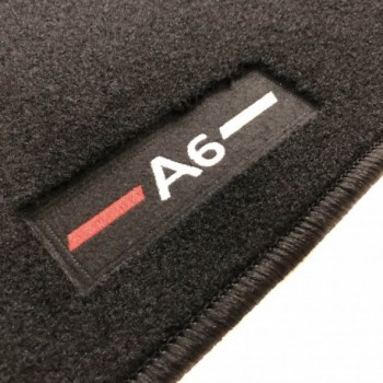 Audi A6 C6 Restyling Sedán (2008 - 2011) tailored logo car mats