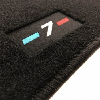 BMW 7 Series F02 long (2009-2015) tailored logo car mats