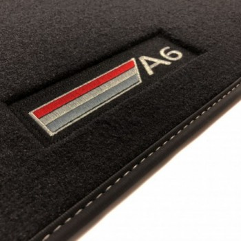 Audi A6 C6 Restyling Avant (2008 - 2011) Velour logo car mats
