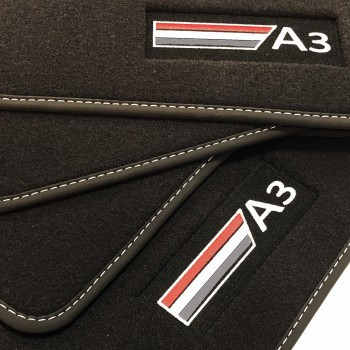 Audi A3 8P Hatchback (2003 - 2012) Velour logo car mats