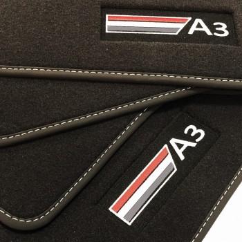 Audi A3 8P7 Cabriolet (2008 - 2013) Velour logo car mats
