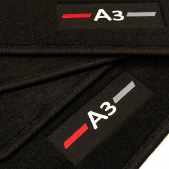 Audi A3 8V7 Cabriolet (2014 - current) tailored logo car mats