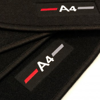 Audi A4 B7 Cabriolet (2006 - 2009) tailored logo car mats