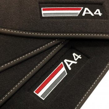 Audi A4 B9 Sedan (2015 - 2018) Velour logo car mats