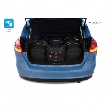 Tailored suitcase kit for Ford Focus MK3 3 o 5 doors (2011 - 2018)