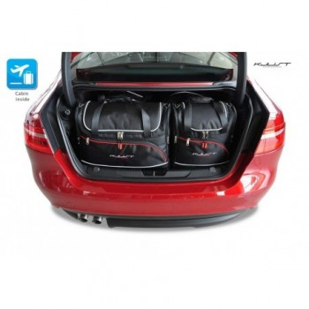 Tailored suitcase kit for Jaguar XE