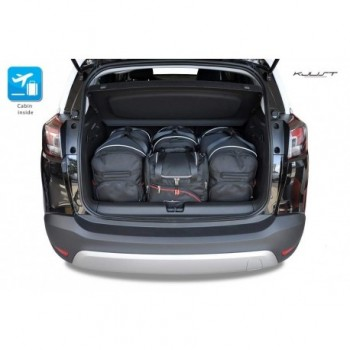Tailored suitcase kit for Opel Crossland X
