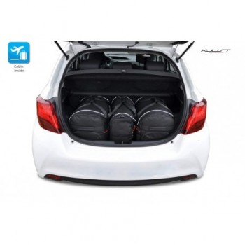Tailored suitcase kit for Toyota Yaris 3 o 5 doors (2011 - 2017)