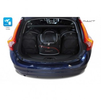 Tailored suitcase kit for Volvo V60 (2010 - 2018)