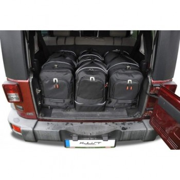 Tailored suitcase kit for Jeep Wrangler 5 doors (2007 - 2017)