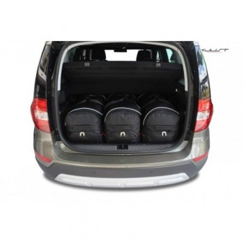 Tailored suitcase kit for Skoda Yeti (2014 - Current)