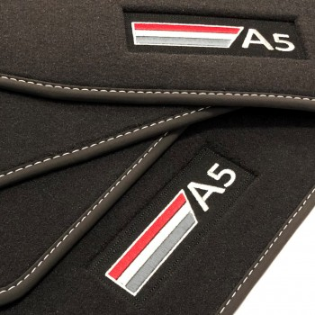 Audi A5 F5A Sportback (2017 - current) Velour logo car mats