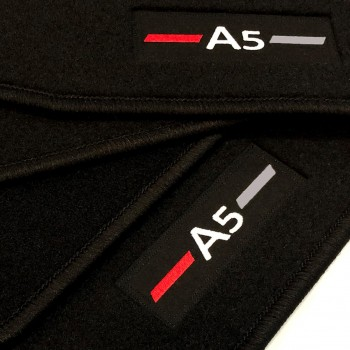 Audi A5 F57 Cabriolet (2017 - current) tailored logo car mats