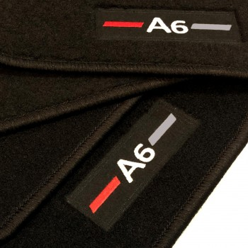 Audi A6 C5 Restyling Sedán (2002 - 2004) tailored logo car mats