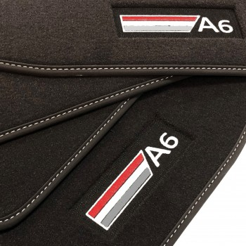 Audi A6 C6 Sedan (2004 - 2008) Velour logo car mats