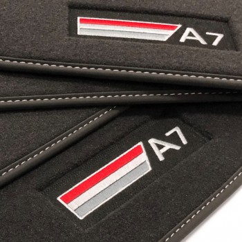Audi A7 Velour logo (2010-2017) car mats
