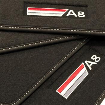 Audi A8 D3/4E (2003-2010) Velour logo car mats