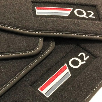 Audi Q2 Velour logo car mats