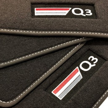 Audi Q3 Velour logo (2011-2018) car mats