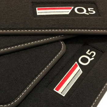 Audi Q5 FY (2017 - current) Velour logo car mats