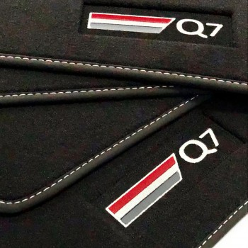 Audi Q7 4M 5 seats (2015 - current) Velour logo car mats