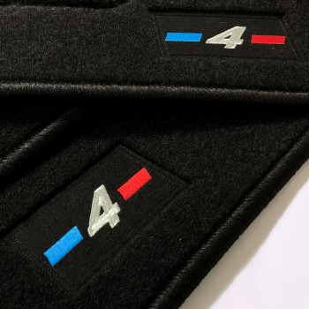 BMW 4 Series F33 Cabriolet (2014 - current) tailored logo car mats