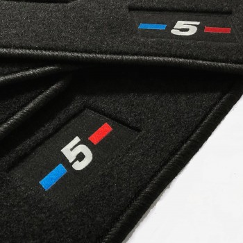 BMW 5 Series E34 Sedan (1987 - 1996) tailored logo car mats