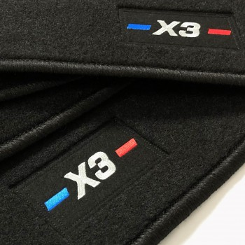 BMW X3 F25 (2010 - 2017) tailored logo car mats