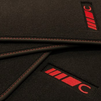 Mercedes C-Class C205 Coupé (2015 - current) Velour redline car mats