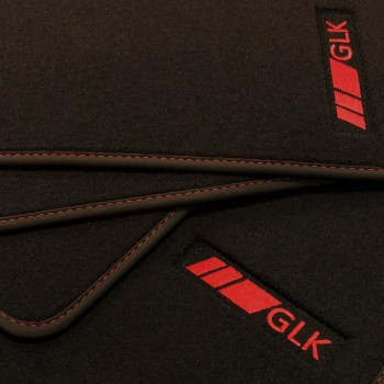 Mercedes GLK velour redline car mats