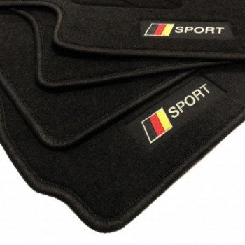 Germany flag BMW 7 Series E65 short (2002-2008) floor mats