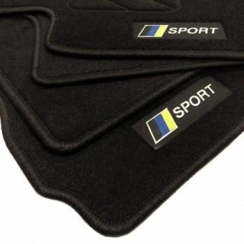 Racing flag Chevrolet Matiz (2008 - 2010) floor mats