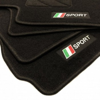 Italy flag Fiat 500 C (2014 - Current) floor mats