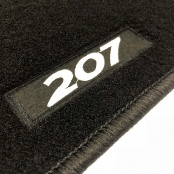 Peugeot 207 3 or 5 doors (2006 - 2012) tailored logo car mats