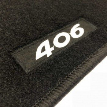 Peugeot 406 Coupé (1997 - 2004) tailored logo car mats