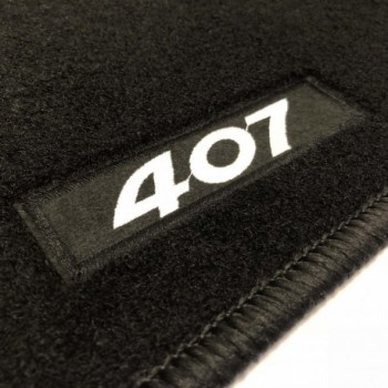 Peugeot 407 Coupé (2004 - 2011) tailored logo car mats