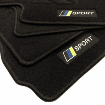 Racing flag Saab 9-3 cabriolet (2003 - 2007) floor mats