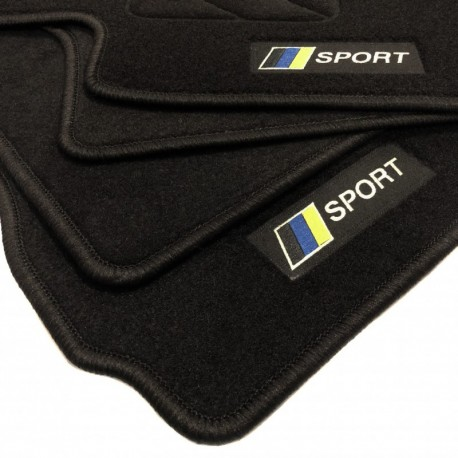 Racing flag Volvo V50 floor mats