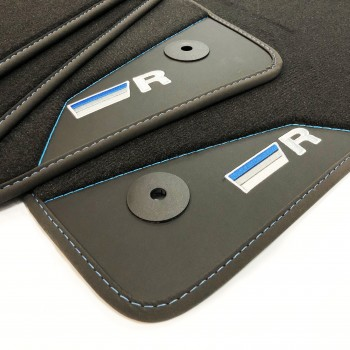 Volkswagen Polo 6R (2009 - 2014) R-Line Blue leather car mats
