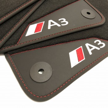 Audi A3 8V7 Cabriolet (2014 - current) leather car mats