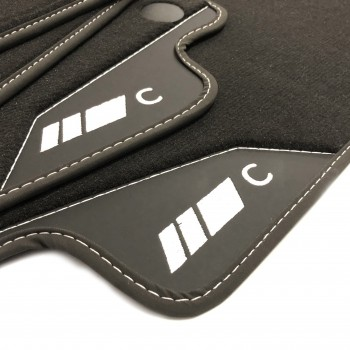 Mercedes C-Class CL203 Coupé (2000 - 2008) leather car mats