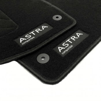 Opel Astra K 3 or 5 doors (2015 - current) tailored logo car mats