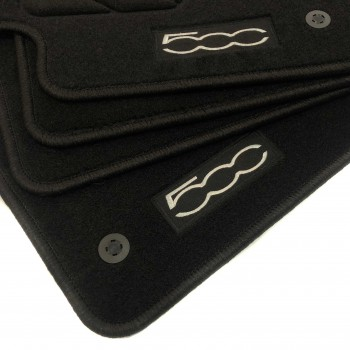 Floor mats, Fiat 500 C (2009 - 2014) with logo