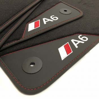Audi A6 C5 Restyling Sedán (2002 - 2004) leather car mats