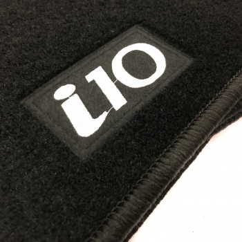 Hyundai i10 (2013 - current) tailored logo car mats