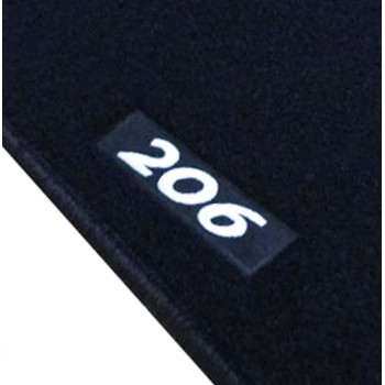 Peugeot 206 (1998 - 2009) tailored logo car mats