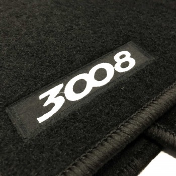 Peugeot 3008 (2009 - 2016) tailored logo car mats