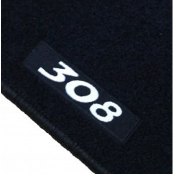 Peugeot 308 5 doors (2013 - current) tailored logo car mats